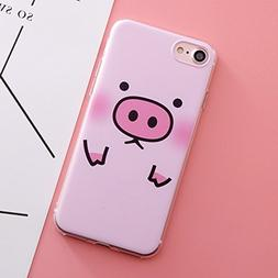 shoppingmal Silicone Case Pig Phone Cover For iPhone7 Plus 8