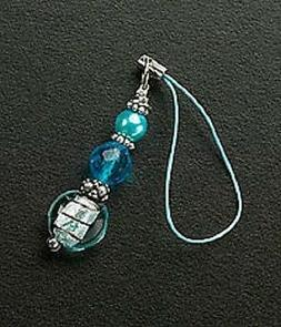 Silver Glass Bead Crystals Cell Phone Charms For Mobile Phon