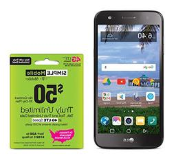 Simple Mobile LG Fiesta 4G LTE Prepaid Smartphone with Free