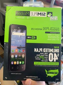 Simple Mobile Alcatel OneTouch Pixi Avion 4G LTE PrePaid Unl