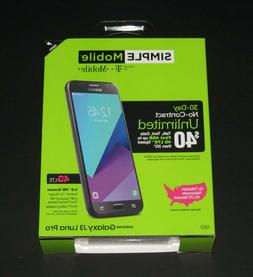 For Simple Mobile ONLY, Samsung Galaxy J3 Luna Pro Prepaid S