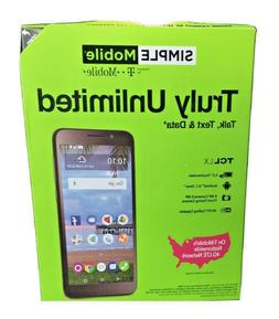 Simple T-Mobile TCL LX A502DL LTE Prepaid Cell Phone Smartph