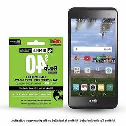 Simple Mobile SMLGL53BGP5ET Prepaid Smartphone, LG X Style 4