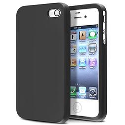 Insten Soft Black Silicone Rubber Case Compatible with iPhon