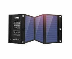 Nekteck 20W Solar Charger 2-Port USB Charger Build High effi