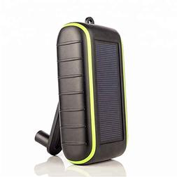 Solar Charger Hand-Crank Portable, 10000 mAh Solar Power Cha