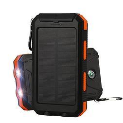 Solar Charger,Providing 10000mAh Solar Charger External Back