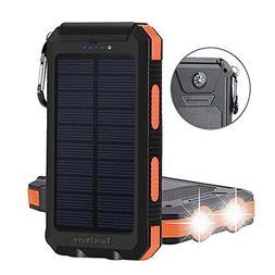 Solar Charger,Solar Power Bank 20000mAh Waterproof Portabl