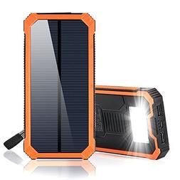 15000mAh Solar Power Bank, Solar Charger Portable Dual USB S