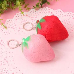 Squishy Strawberry Cream Scented Rising Slow Toy Phone Charm