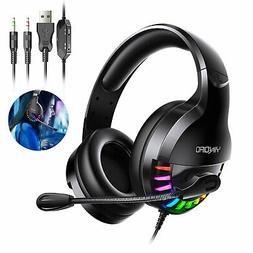 Stereo Bass Surround Mic Gaming Headset Headphone For PS4/Xb