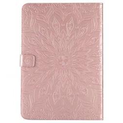 Sun Flower Printing Design PU Leather Flip Wallet Lanyard Pr