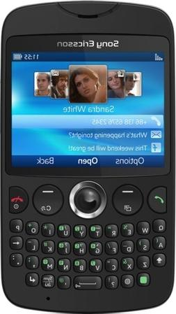 Sony Ericsson txt CK13i Black Unlocked full keyboard,WiFi Qu