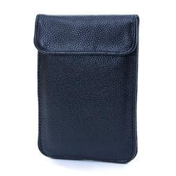 U-TIMES Leather RFID Cell Phone Signal Blocking / Jammer Pou