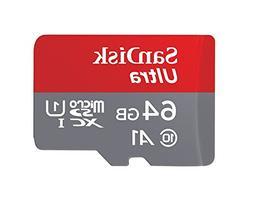 SanDisk 64GB Ultra UHS-I Class 10 Micro SDXC Memory Card wor