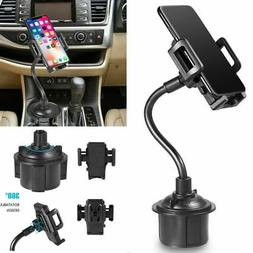 Universal Car Mount Adjustable Gooseneck Cup Holder Cradle f