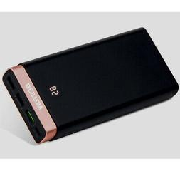20000mAh Power Bank Dual USB External Battery Portable Charg