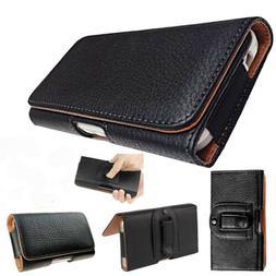 Universal PU Leather Flip Belt Clip Holster Case Cover For V