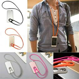 Universal Silicone lanyard Neck Hanging Rope Phone Strap For