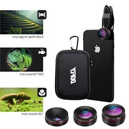 DOFLY Universal 0.45X Wide Angle Lens 120º+ 15X Macro Lens,