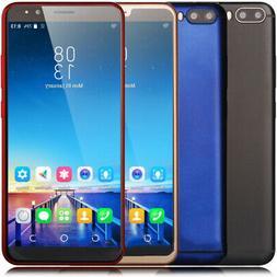 "Unlocked Android 7.0 Quad Core 2SIM Mobile Smart Phones 6"" L"