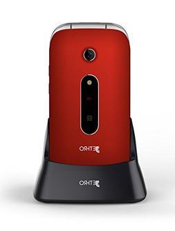 Jethro   3G Unlocked Flip Senior & Kids Cell Phone, FCC/IC C