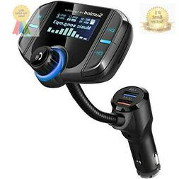 FM Transmitter, Wireless Radio Adapter Hands-free Car Kit.