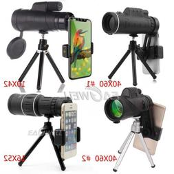 US 40X60 16X52 10X42 Zoom Optical Monocular Lens Mobile Phon