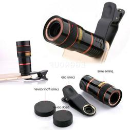 US Clip 8x Optical Zoom HD Phone Camera Lens Telescope For H