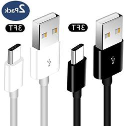 USB Type C Cable, 2Pack 3FT Android phone USB A to USB C Cha