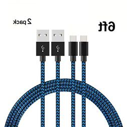 USB Type C Cable, Ankoe  6ft Braided Nylon Fast Charging USB