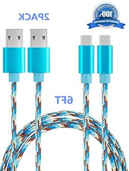 USB Type C Cable, SUPZY Durable Nylon Braided High Speed 2.0
