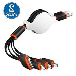 USB Cable, Premium Quality 4 in 1 Multiple USB Charging Cab