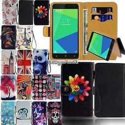 For Various NUU Mobile Phones - Leather Wallet Stand Magneti