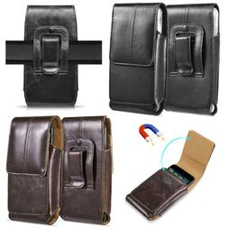 Vertical Leather Case Cover Pouch Holster With Belt Loop For