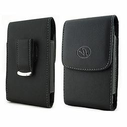 For Pantech Cell Phones Vertical Leather Belt Clip Case Pouc