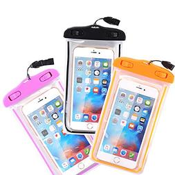 Waterproof Case, 3 Pack CTREEY Universal Clear Transparent W