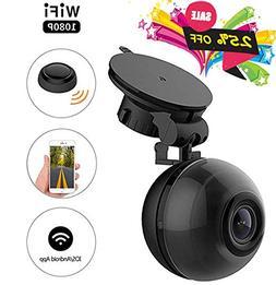 PEMENOL WiFi Dash Cam FHD 1080P Mini Dashboard Camera 140°