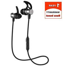 Sports Wireless Bluetooth 4.1 In-Ear Headphones, Bass Boost,