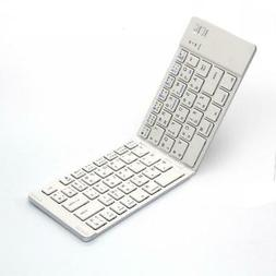 WIRELESS BLUETOOTH KEYBOARD FOLDING RECHARGEABLE PORTABLE KE