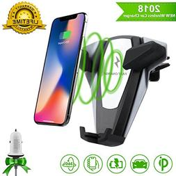 Wireless Car Charger,Qi Fast Charger Car Mount,Car Wireless