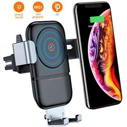 VANMASS Wireless Car Charger, Auto-Clamping Adjustable Gravi