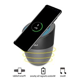 iNepo Wireless Charging Speaker with Bluetooth, Magnetic Mob