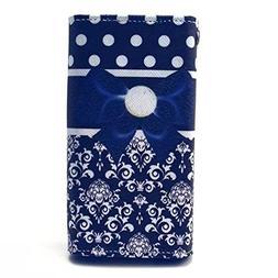 Xgody X15 Case,Blue Bowknot Pattern Universal Smartphone Fli