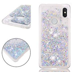 XiaoMi Red Mi S2 Case, Bunnyfan Bling Dynamic Liquid Glitter
