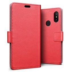 Xiaomi Redmi 6 Pro/Mi A2 Lite Case - SLEO Luxury Slim PU Lea