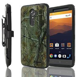 ZTE MAX XL Case, ZTE Max Blue Case, Customerfirst, Hybrid Ru