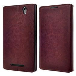 ZTE Warp Elite Case - Magnetic Leather Folio Flip Book Walle